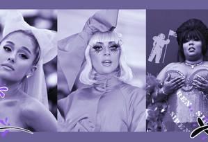 Lady Gaga, Ariana Grande e Lizzo Foto: Getty Images e AFP