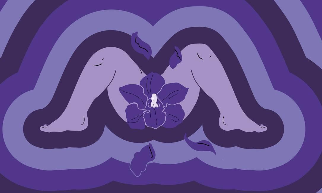 Apenas 36% das mulheres têm orgasmos durante o sexo, revela pesquisa feita pela Casa Prazerela, espaço em São Paulo que apoia mulheres a se empoderar de seus corpos através do prazer Foto: Arte de Paula Cruz