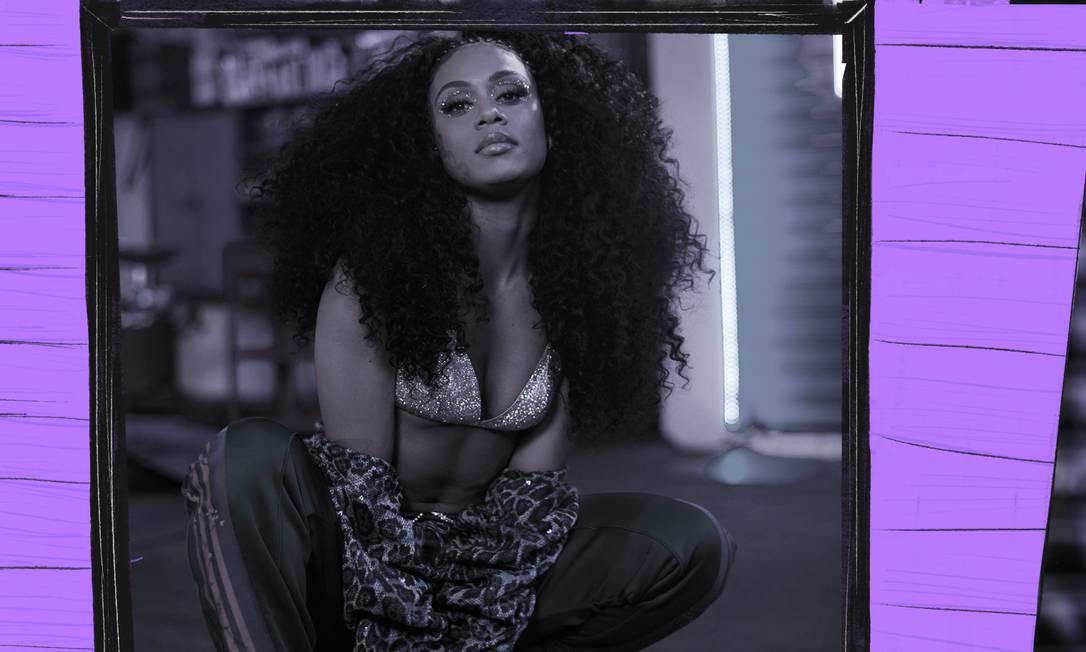 Mc Rebecca se tornou a primeira artista brasileira negra a entrar no Top 100 de músicas mais ouvidas do Spotify Global Foto: Arte de de José Pinto sobre foto divulgação