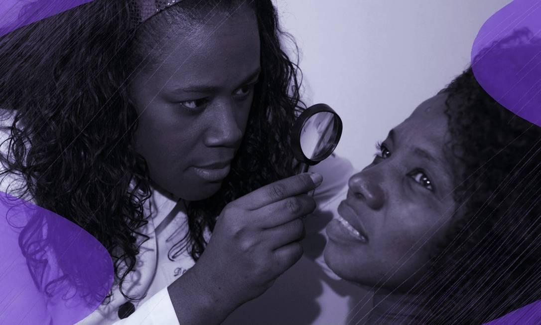 A dermatologista Katleen Conceição é a maior referência do Brasil em cuidados com a pele negra Foto: Arte de José Correa sobre foto de Fábio Guimarães