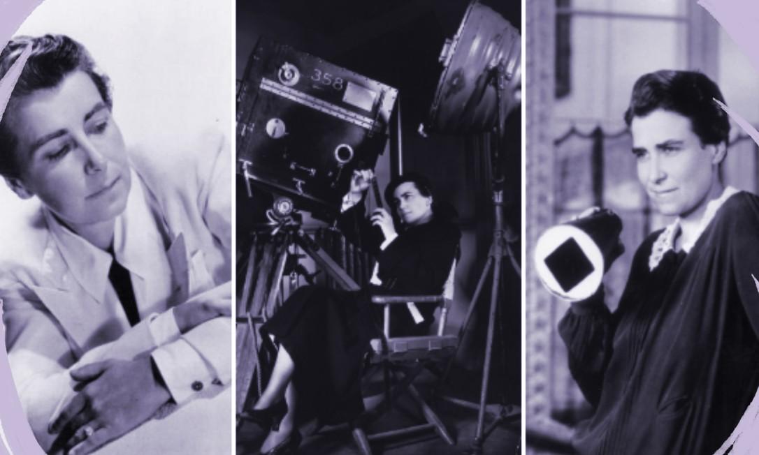 A diretora Dorothy Arzner inovou ao trazer para as telas protagonistas femininas fortes e independentes Foto: Arte sobre fotos de British Film Institute e Park Circus/Universal