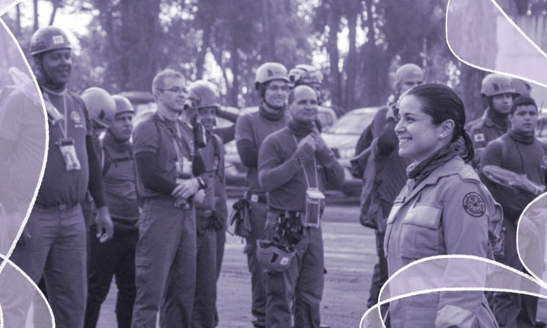 Capitã Thaise Rodrigues Rocha atuou no local da tragédia até abril Foto: Keko Fotografia / Arquivo Pessoal