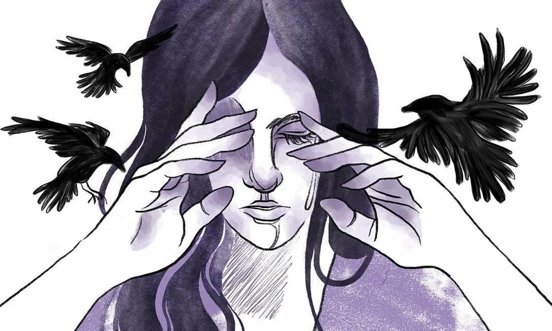 Relato de estupro foi compartilhado nas redes sociais e ganhou repercusão Foto: Arte de Lari Arantes