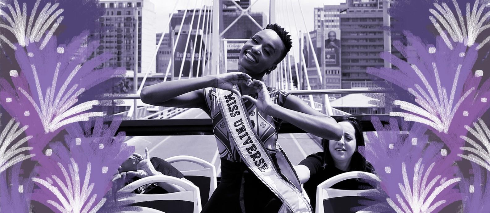 Miss Universo, Zozibini Tunzi, volta à África do Sul após coroação Foto: Phill Magakoe / AFP
