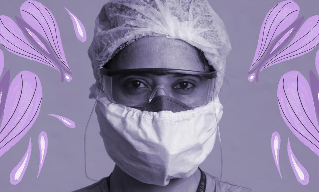 Mulheres representam 70% dos profissionais que estão na linha de frente do combate à pandemia Foto: AFP