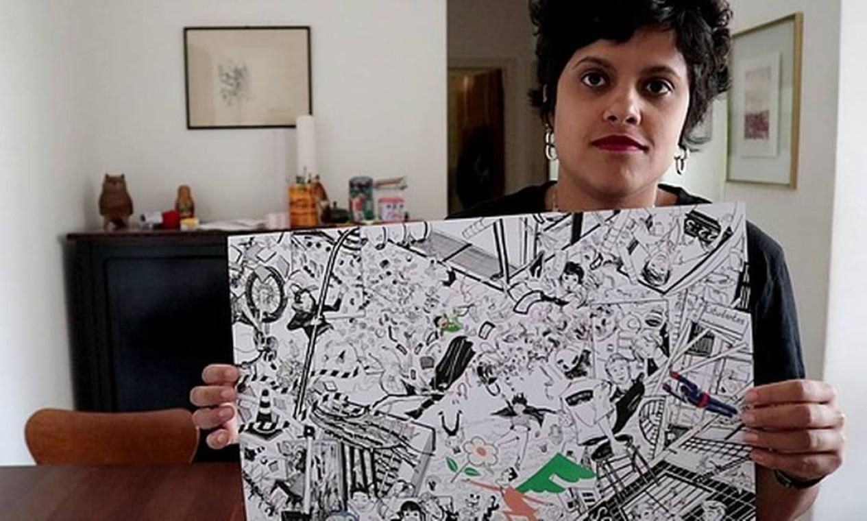 Marília de Azevedo Correa e Moreira, conhecida como Marz, autora de Indivisível, que discorre sobre a identidade negra presente no bairro da Liberdade, em São Paulo. Foto: Arquivo Pessoal / Arquivo Pessoal