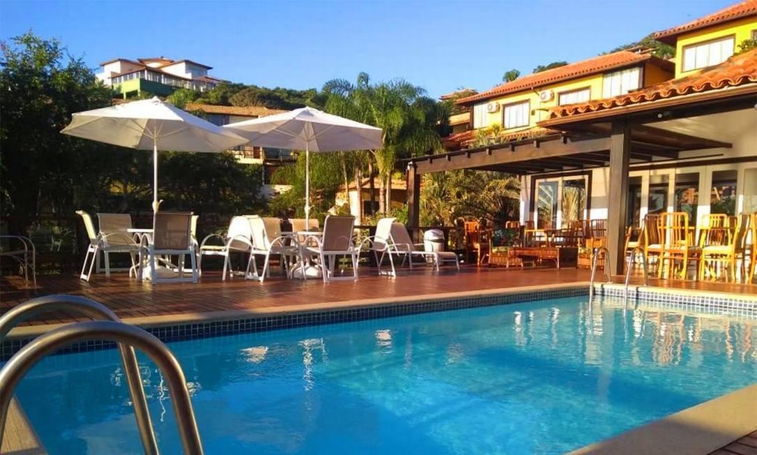 Área da piscina do Búzios Mar Hotel. Foto: Divulgação / Búzios Mar Hotel