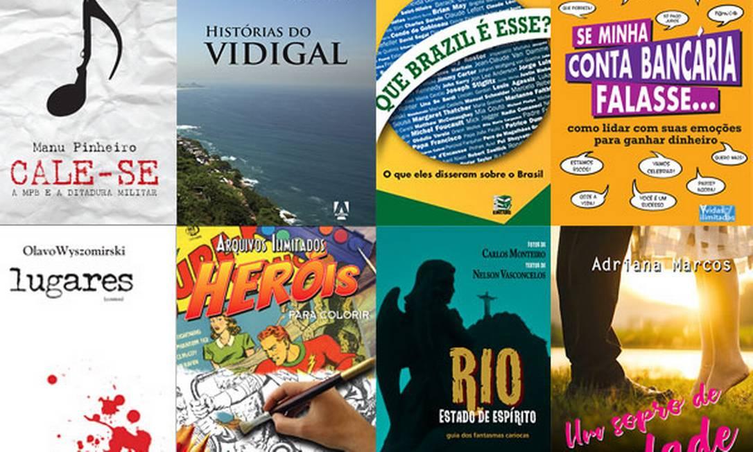 Títulos da Editora Livros Ilimitados Foto: Divulgação / Editora Livros Ilimitados
