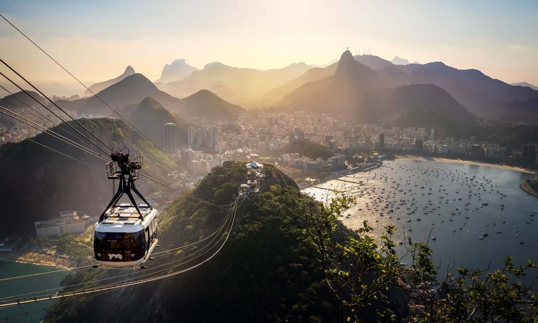 Um dos parques mais visitados do Brasil e do mundo. Foto: Bondinho Pão de Açúcar / Divulgação