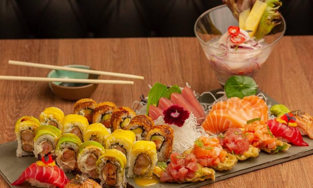Combinado 36 peças do restaurante Páru Inkas Sushi & Grill. Foto: Victor Estruc / Páru Inkas Sushi & Grill