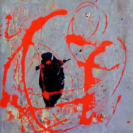 'Red, Black and Silver', pintura que seria de Jackson Pollock Foto: C41 Media / Reprodução