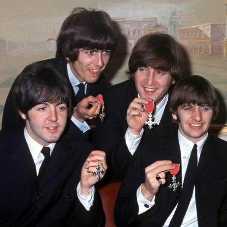 Os Beatles, em outubro de 1965 Foto: AFP