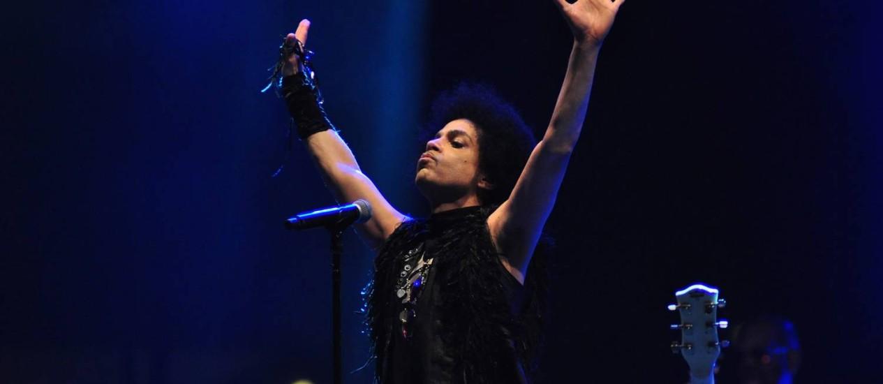 Prince em setembro de 2013, numa apresentação no North Sea Jazz Festival, em Curaçao Foto: Divulgação