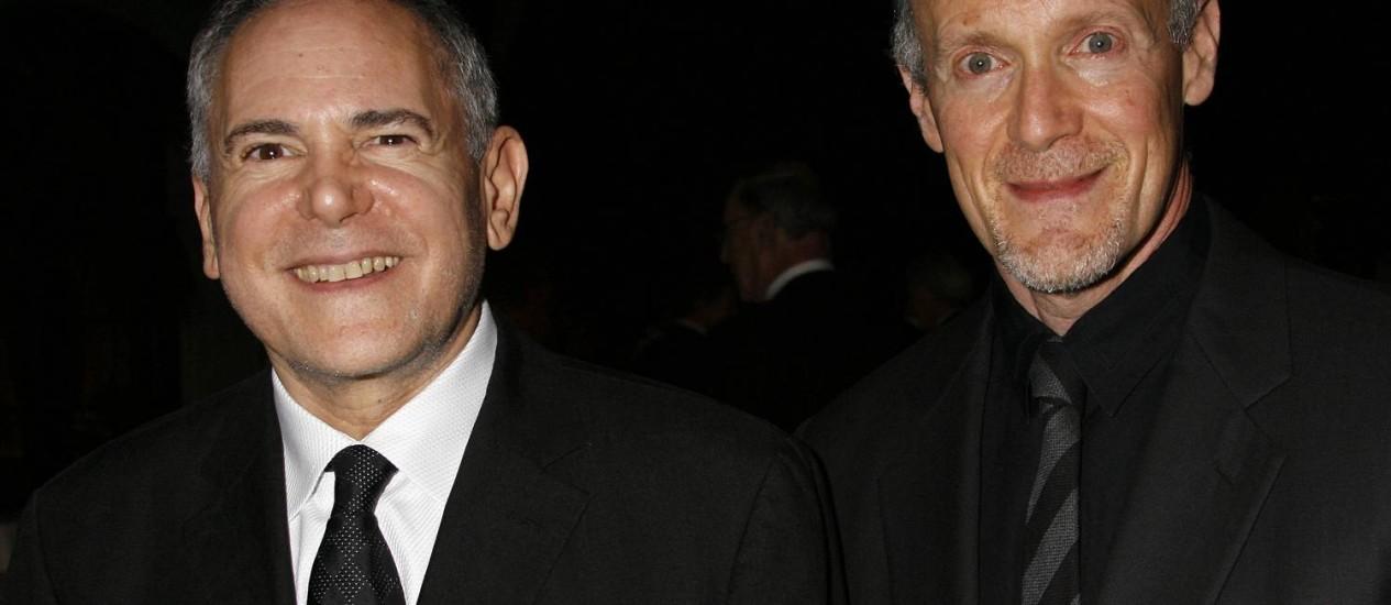 Craig Zadan (à esquerda) e Neil Meron vão produzir o Oscar mais uma vez em 2015 Foto: MICHAEL A. MARIANT / AP