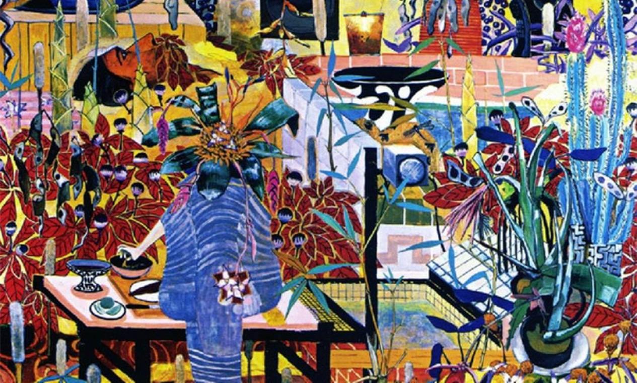 'Eu, paisagem'. Uma das obras mais antigas na exposição da Casa Daros, a tela de 1998 faz parte da Coleção João Sattamini Foto: Divulgação