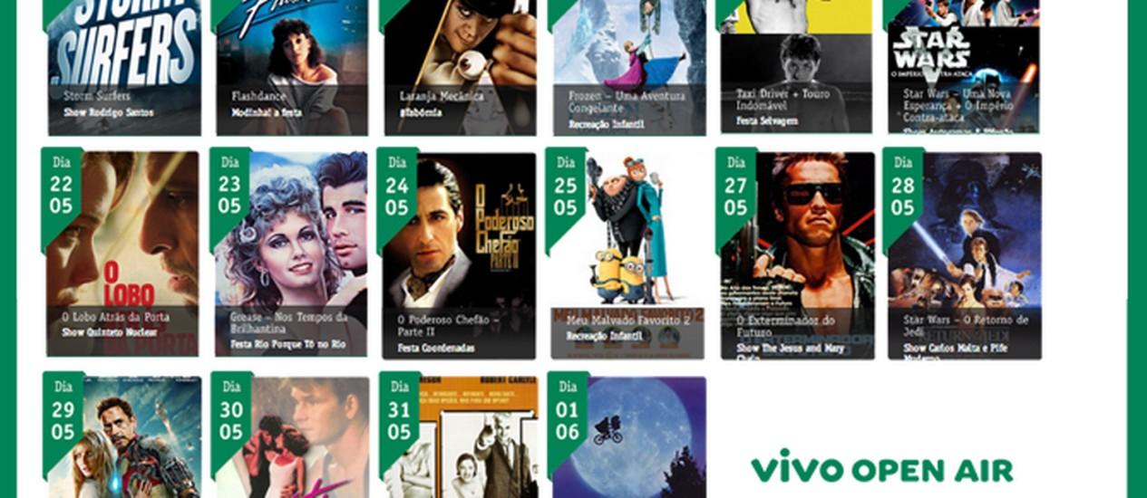 Filmes em cartaz no Vivo Open Air 2014 Foto: Reprodução