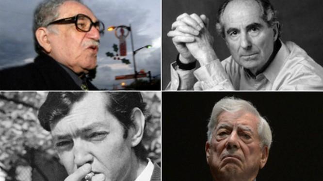 Em sentido horário: Gabriel García Márquez, Philip Roth, Mario Vargas Llosa e Julio Cortázar. Autores serão representados por 'superagência literária' Foto: Divulgação
