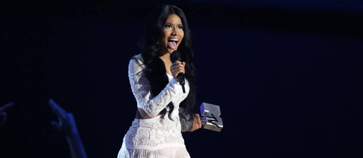 Apresentadora do EMA 2014, Nicki Minaj venceu o prêmio de melhor artista de hip-hop Foto: Joel Ryan / Joel Ryan/Invision/AP