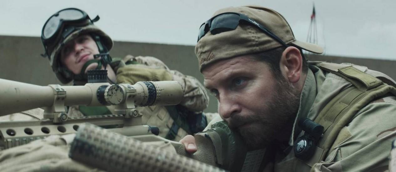 Bradley Cooper em cena de 'Sniper americano' Foto: Divulgação