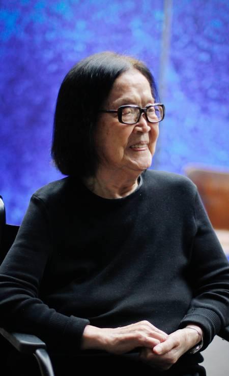 Tomie Ohtake é considerada a dama das artes plásticas brasileiras pela carreira consagrada Foto: Marcos Alves / Agência O Globo