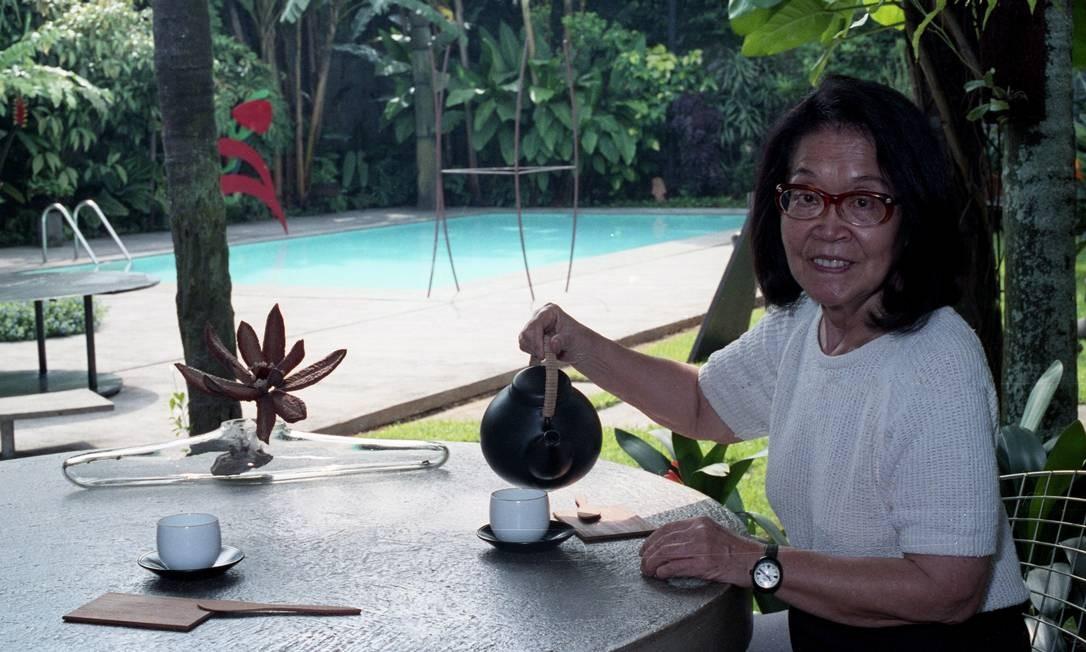 A artista plástica Tomie Ohtake, em foto de 1992 Agência O Globo