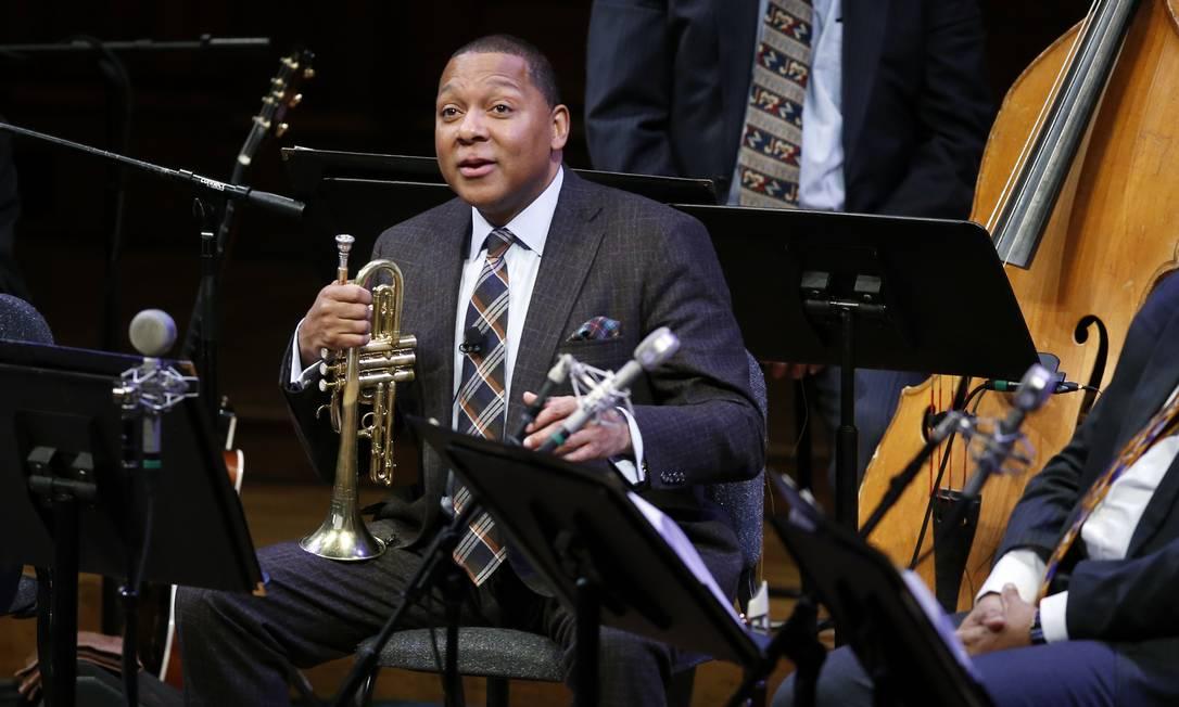 O músico Wynton Marsalis, diretor da Orquestra de Jazz do Lincoln Center Foto: Elise Amendola / AP