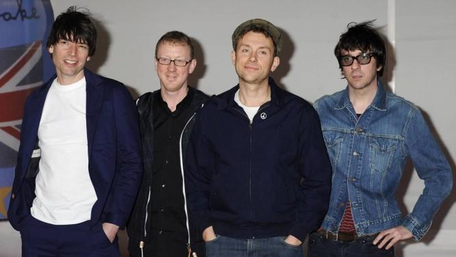 Alex James, Dave Rowntree, Damon Albarn e Graham Coxon, do Blur Foto: Jonathan Short / AP