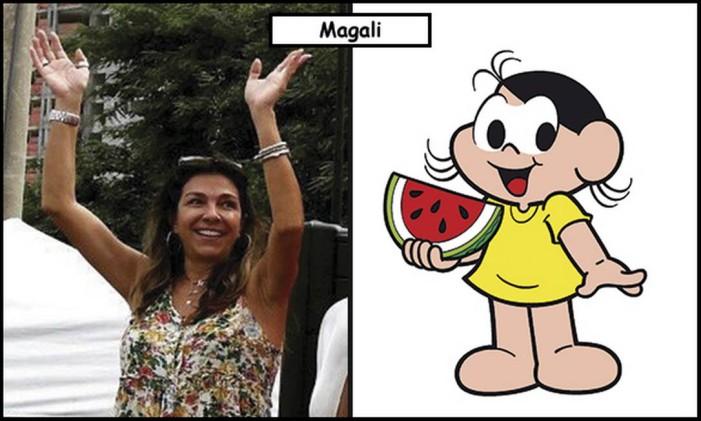 Magali Spada e Sousa foi inspiração para Magali Foto: Divulgação