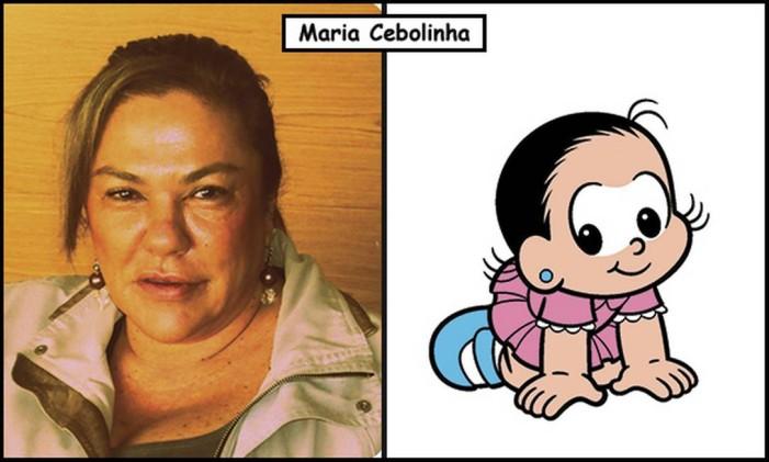 Mariângela Spada e Sousa, a filha mais velha, é a bebê Maria Cebolinha nos quadrinhos Foto: Divulgação