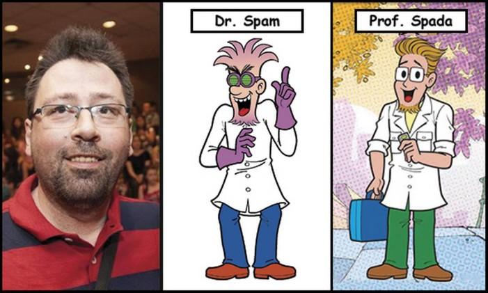 Maurício Spada e Sousa é o personagem-duplo Prof. Spada/Dr.Spam Foto: Divulgação
