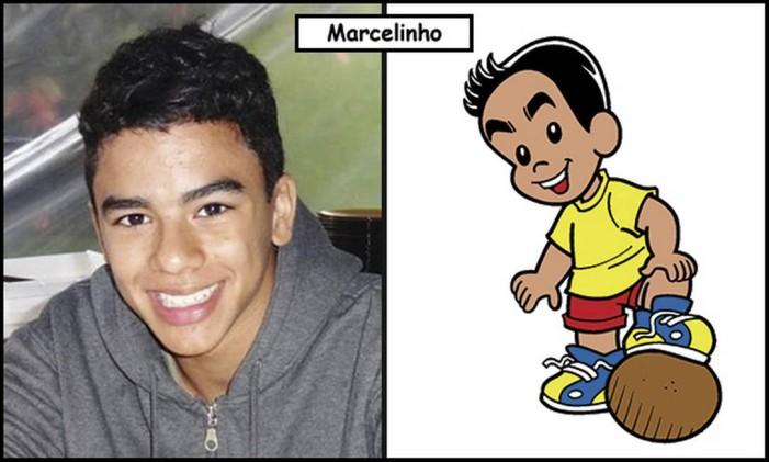 Marcelo Pereira de Sousa, o caçula, é o personagem Marcelinho Foto: Divulgação