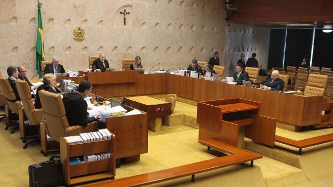 Ministros durante aessão Plenária do Supremo Tribunal Federal sobre biografias Foto: Nelson Jr / STF