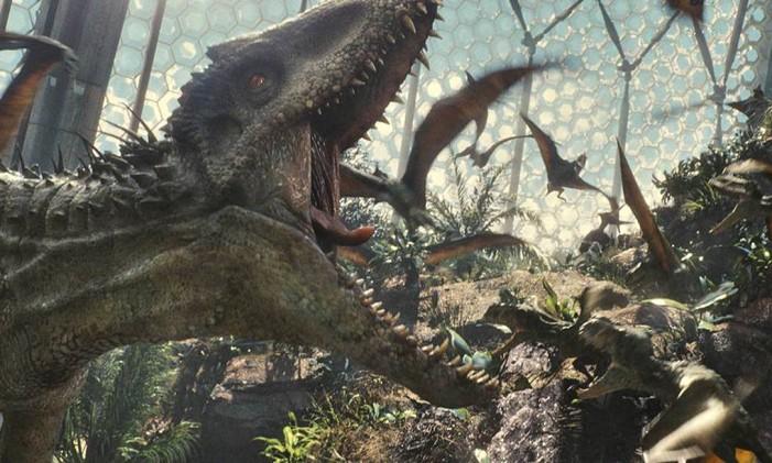 Cena do filme 'Jurassic World - O mundo dos dinossauros' Foto: Divulgação