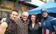 Stan Lee no set de 'Os vingadores' Foto: Divulgação