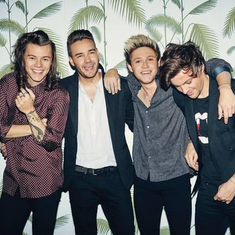 Da esquerda para a direita, Harry Styles, Liam Payne, Niall Horan e Louis Tomlinson, ons integrantes do One Direction Foto: Reprodução