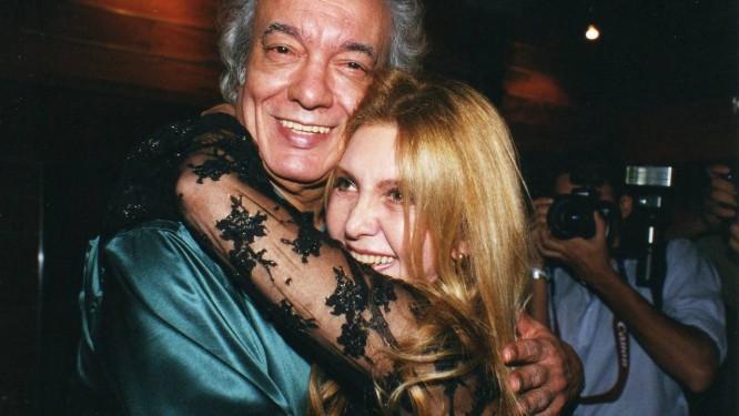 Erasmo Carlos e Wanderleia em 2005, na comemoração dos 40 Anos de Jovem Guarda, no CCBB Foto: Divulgação
