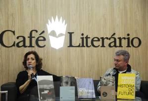 Míriam Leitão e Edney Silvestre Foto: Ana Branco / Agência O Globo