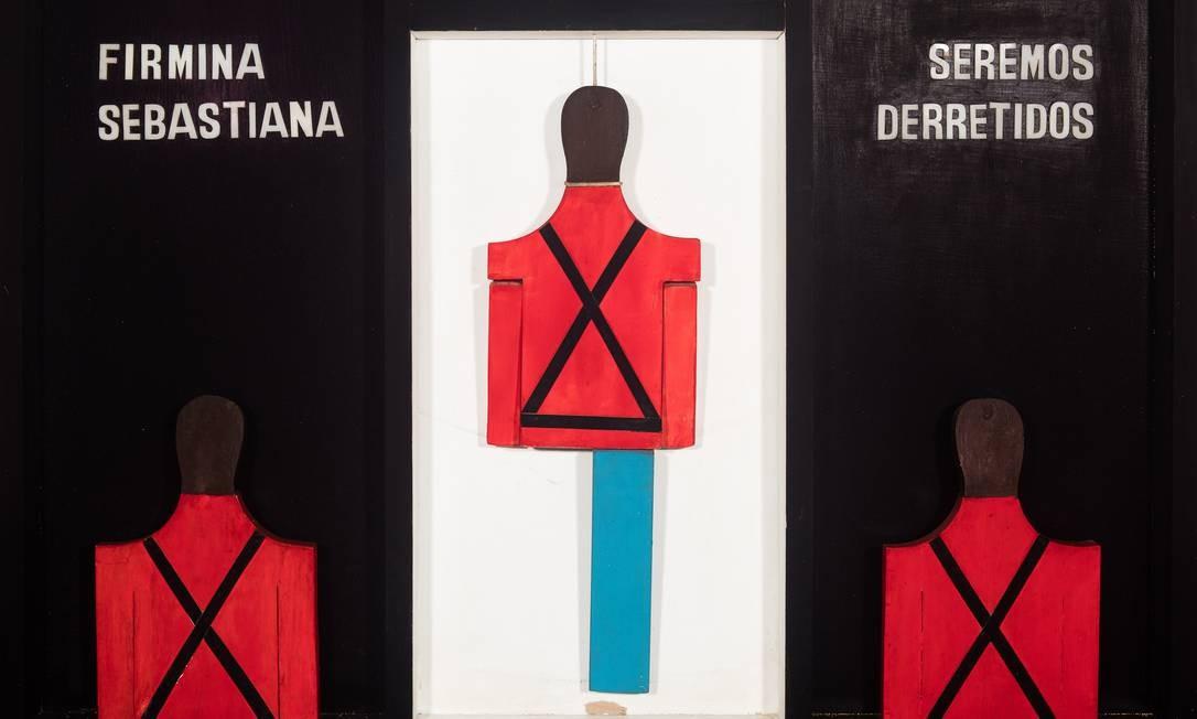 'Estória (O fim da idade do chumbo)', 1965, de Pedro Escosteguy, na Pinakotheke Foto: Divulgação/Jaime Acioli