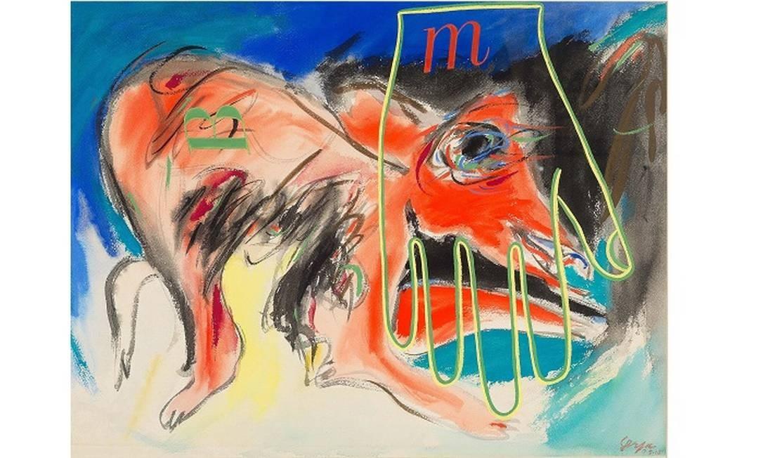 Obra sem título de 1965, de Ivan Serpa, é uma das obras do 'Opinião 65' na Pinakotheke Foto: Divulgação