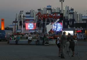 Vista da Cidade do Rock desta edição do festival Foto: Marcelo Carnaval / Agência O Globo