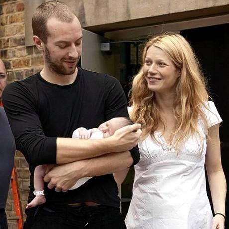 Chris Martin e Gwyneth Paltrow em 2008 Foto: Agência O Globo