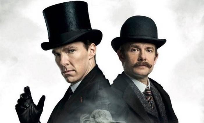A dupla de detetives vivida por Benedict Cumberbatch e Martin Freeman Foto: Divulgação