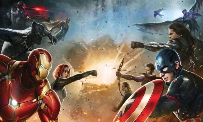 """""""Capitão América: Guerra Civil"""" reúne outros heróis do universo Marvel Foto: Divulgação"""