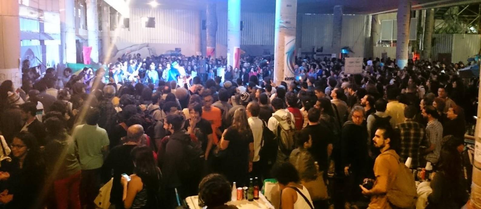 Ocupação do Palácio Capanema Foto: Aline Macedo / Agência O Globo
