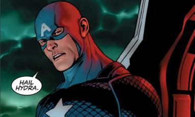 Nova série do 'Capitão América' mostra que o herói seria um agente da organização que sempre pareceu combater Foto: Reprodução