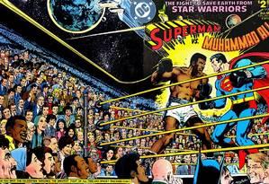Ali em revista em quadrinhos da DC Comics, de 1978 Foto: Reprodução