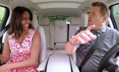 A primeira-dama Michelle Obama foi a última a participar de 'Carpool karaoke', com James Corden Foto: Reprodução
