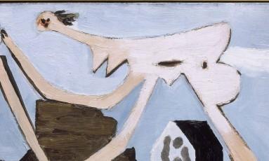 'Jogadores de bola na praia' está na mostra Picasso: mão erudita, olho selvagem Foto: Reprodução