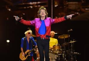 Os Rolling Stones tocam no festival Desert Trip, nos EUA Foto: KEVIN WINTER / AFP