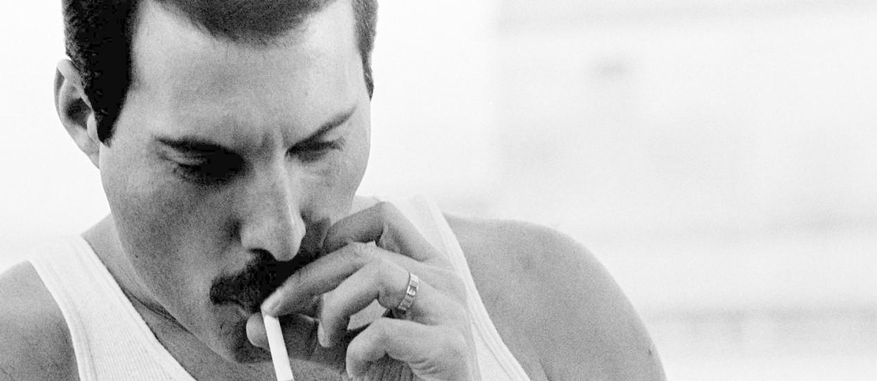 Freddie Mercury, 1985. Foto: Mauricio Valladares / Divulgação